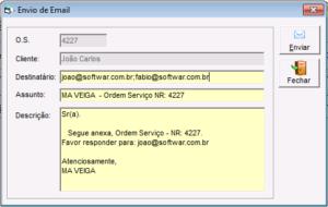 7 - Envio de email pelo sistema